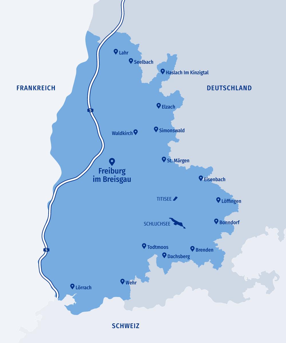 Freiburger Gebietskarte